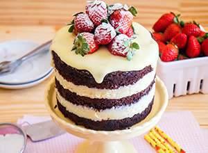 como fazer naked cake