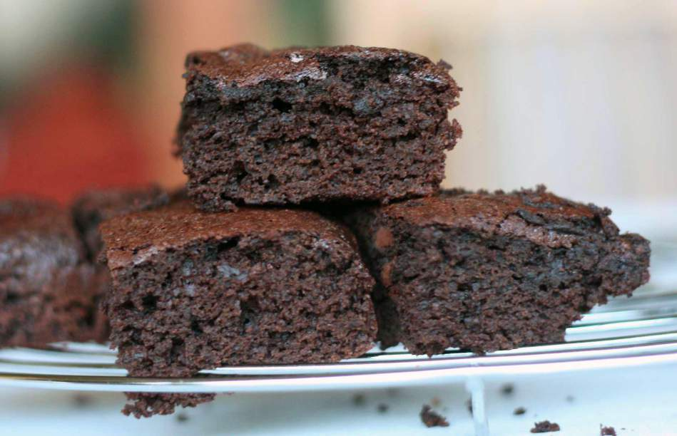 brownie fitness de batata doce