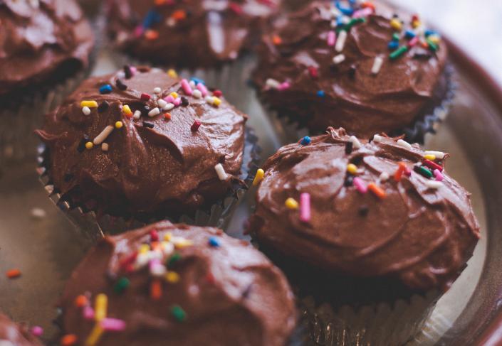 receita de cupcake de chocolate com ganache